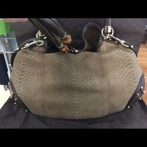 9d72a5ea5ff Gucci Bags - HOST PICK! Gucci Indy Large Python Hobo Bag